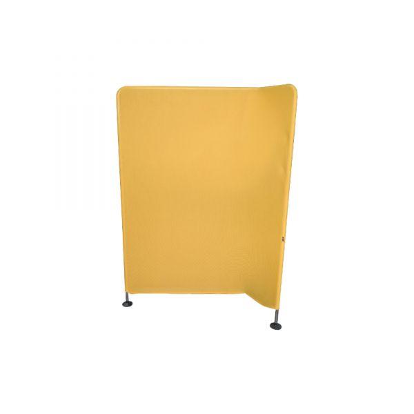 Vitra Mesh Trennwand gelb Winkel nach rechts