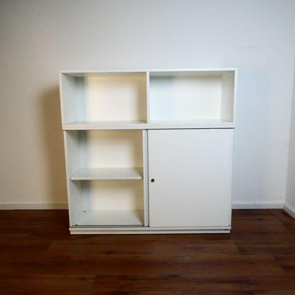 Wini Sideboard 3OH - Korpus weiß - Schiebetüren weiß - 120 cm