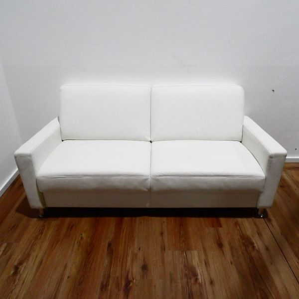 Sitzfeldt TOM Couch 3-Sitzer Leder weiß
