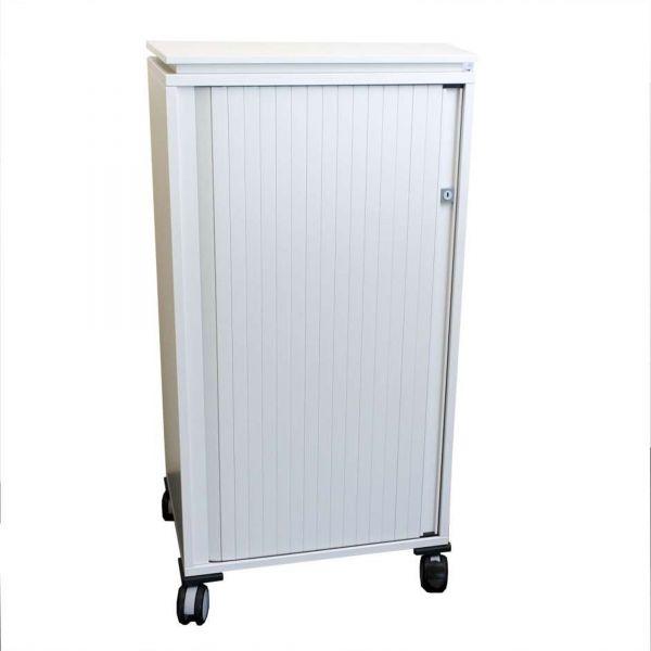 Steelcase Büro Caddy / Sideboard - Korpus in weiß - Rolladen weiß