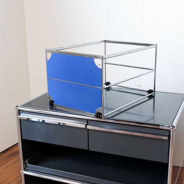 USM Haller Hängeregisterkorb 50x35cm mit Blende Enzianblau