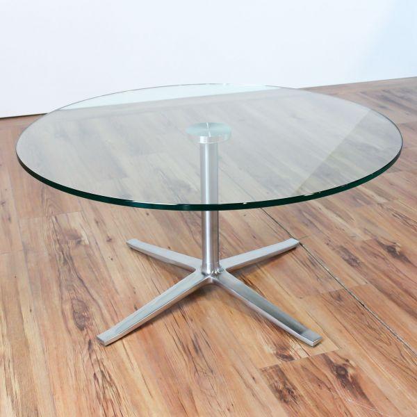 Walter Knoll X-Table Glastisch Coffe Table Ø 80 cm