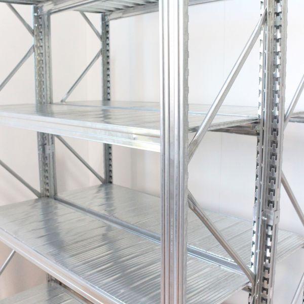 Anbauelement H 400 x B 120 x T 80cm Unirack Steckregal Fachboden - Doppelregal verzinkt