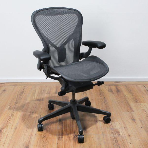 Herman Miller Aeron BII - Bürodrehstuhl - Fixes Posture Fit - schwarz - Neuware