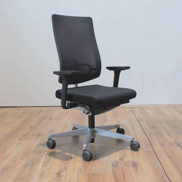 Sedus Black Dot Net Bürodrehstuhl Rückenlehne Netzbezug Grau Gestell Silber
