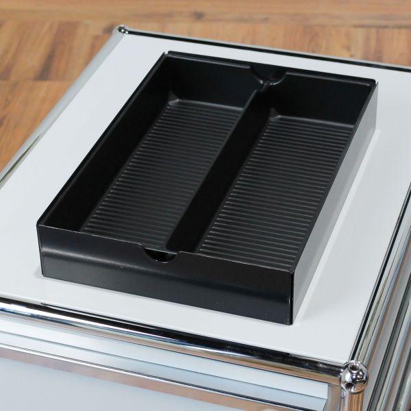 USM Haller Schubladeneinsatz / Materialschale / Ablage / A6 schwarz