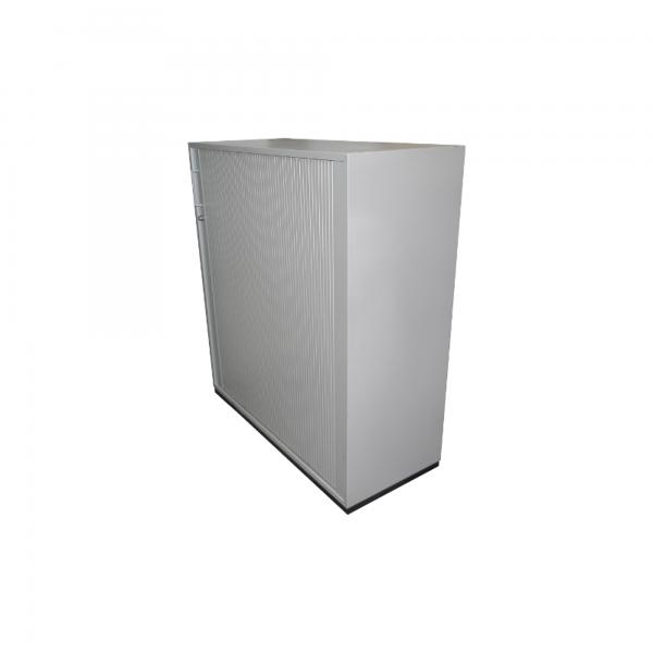 König & Neurath Sideboard 3OH Silber Querrolladen