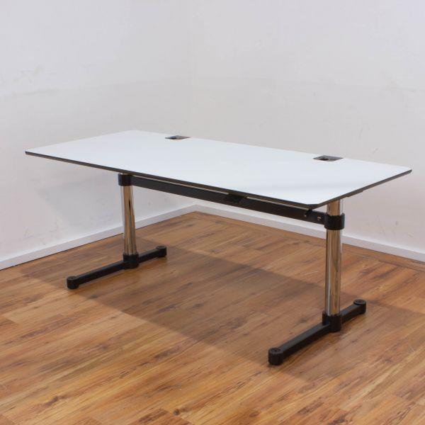 USM Haller Kitos M Schreibtisch/Hubtisch 175x75cm weiß/schwarz