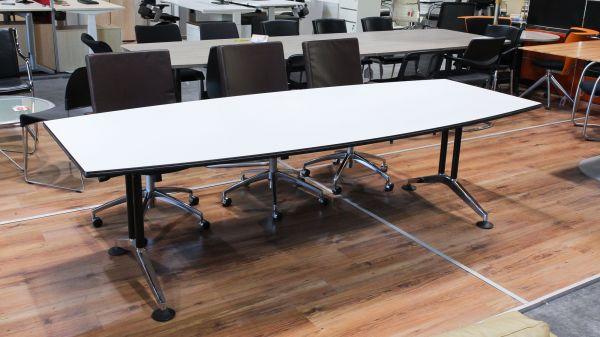 """Wilkhahn """"Logon"""" Konferenztisch - Tischplatte weiß 260 x 105cm"""