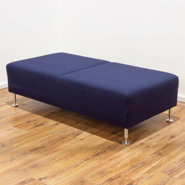 Sedus Sopha Couchelement - 2-Sitzer - Stoff - blau Chromfüsse