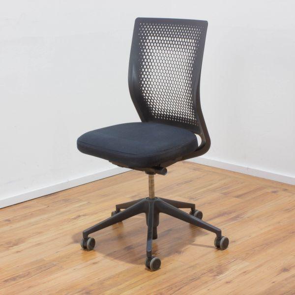 Vitra ID Chair Bürodrehstuhl Stoff schwarz - Rückenlehne schwarz - ohne Armlehnen