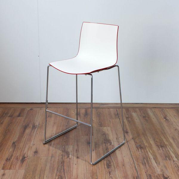 Arper Catifa Barhocker Sitzschale Weiß Rot