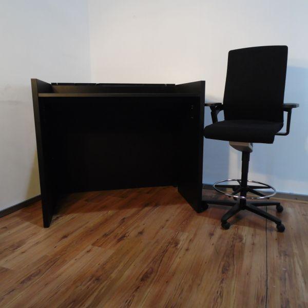 %Sale Steh-Arbeitsplatz Kombination Wilkhahn ON Bürostuhl plus Arbeitstisch Schwarz