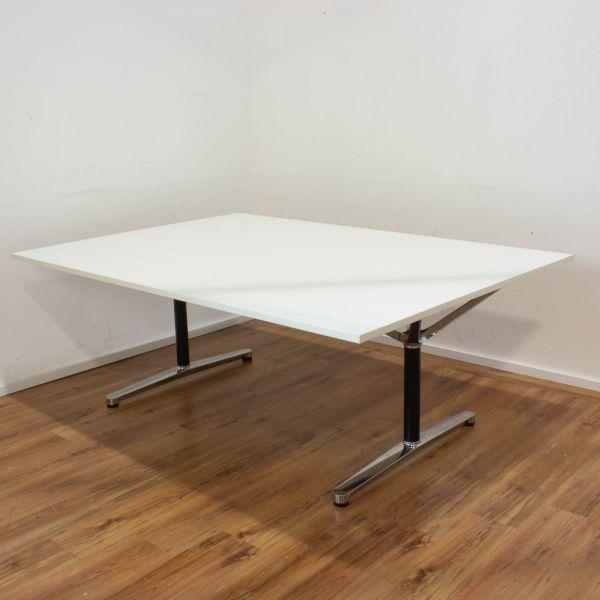 """Bene """"FILO"""" Konferenztisch 200x140 cm weiß - Gestell chrom"""