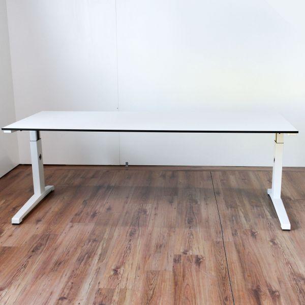 Steelcase Activa Schreibtisch Weiß mit schwarzer Kante 200 x 80 cm