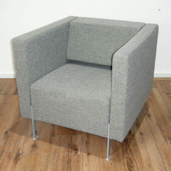 Kinnarps PIO 961S - Lounge - Sessel - Stoff grau