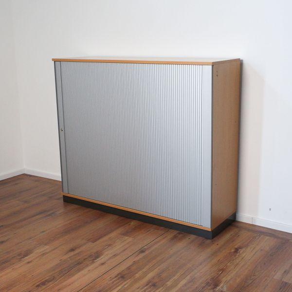 Sedus Sideboard 3OH - Korpus buche - Querrolladen silber