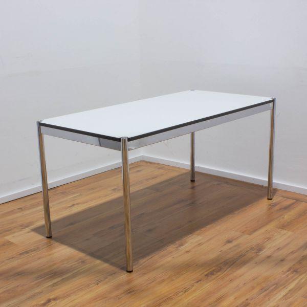 USM Haller Schreibtisch 150 x 75 cm perlgrau