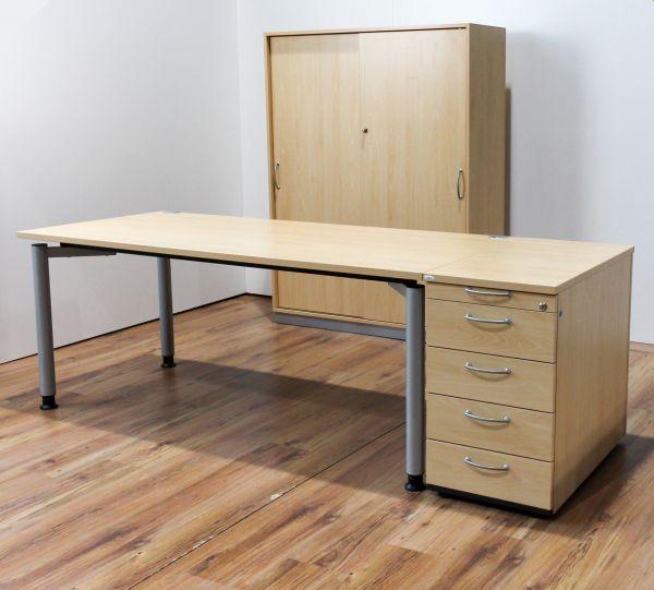 Arbeitsplatz Set Buche Hund / 3K office - Angebot des Monats -