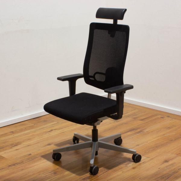Sedus Blackdot Bürodrehstuhl schwarz - 5-Sternfußgestell silber