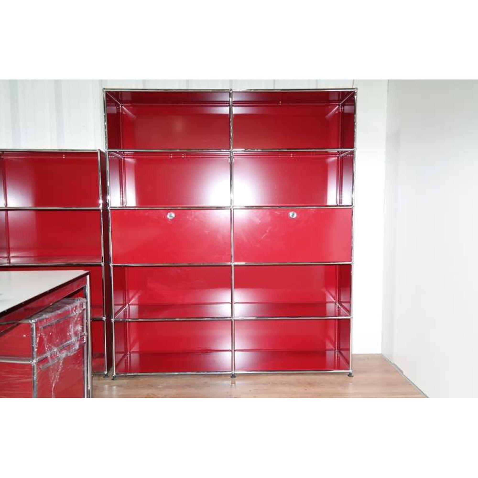 usm haller sideboard 10 f cher 2x abschlie bar korpus rot. Black Bedroom Furniture Sets. Home Design Ideas
