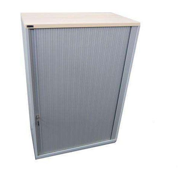 Ceka Sideboard 3OH Korpus Silber Deckplatte Ahorn