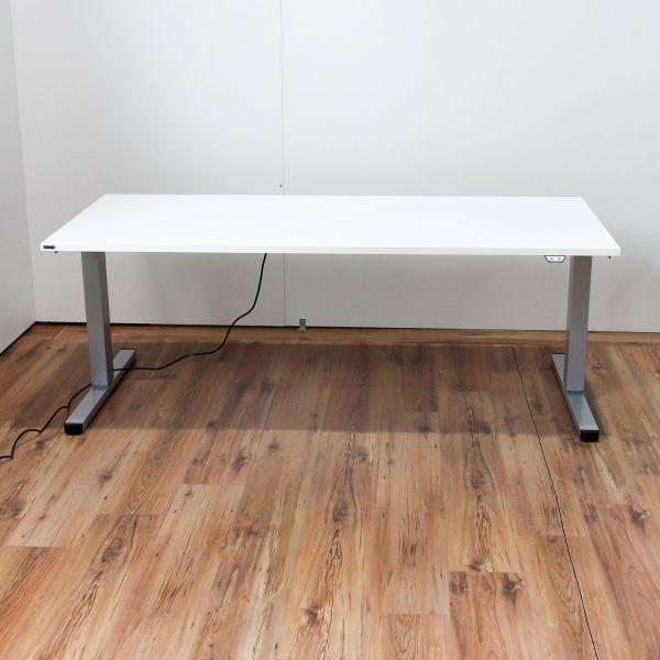 Ceka Solux Schreibtisch elektrisch höhenverstellbar Platte Weiß 160 x 80 cm