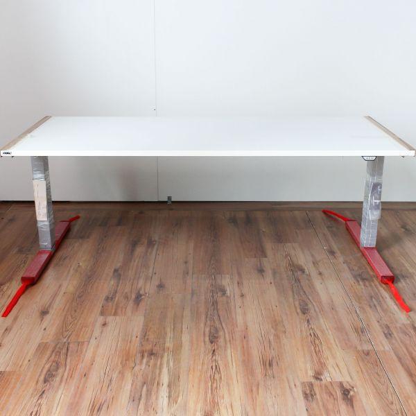 Ceka Solux Schreibtisch elektrisch höhenverstellbar Platte Weiß 180 x 80 cm
