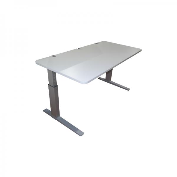 """Bene Schreibtisch """"Lift Desk Pure"""" - 160x80 cm in weiß - C-Fußgestell silber"""