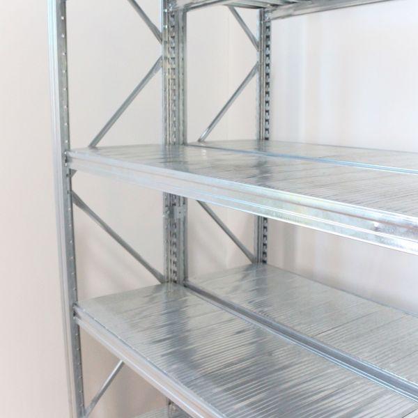 Anbauelement H 400 x B 150 x T 80cm Unirack Steckregal Fachboden - Doppelregal verzinkt