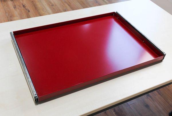 USM Haller Ausziehtablar - 75 x 50 cm in rubinrot inkl. Schiene - 1. Generation