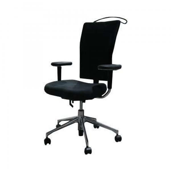 "Vitra Bürodrehstuhl ""T-Chair"" - Stoff in schwarz - Gestell chrom"