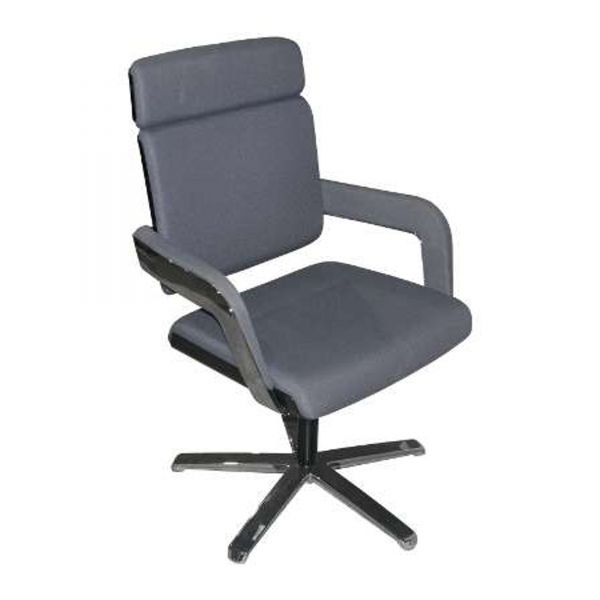 k nig neurath charta besucherstuhl stoff grau mit armlehne ebay. Black Bedroom Furniture Sets. Home Design Ideas