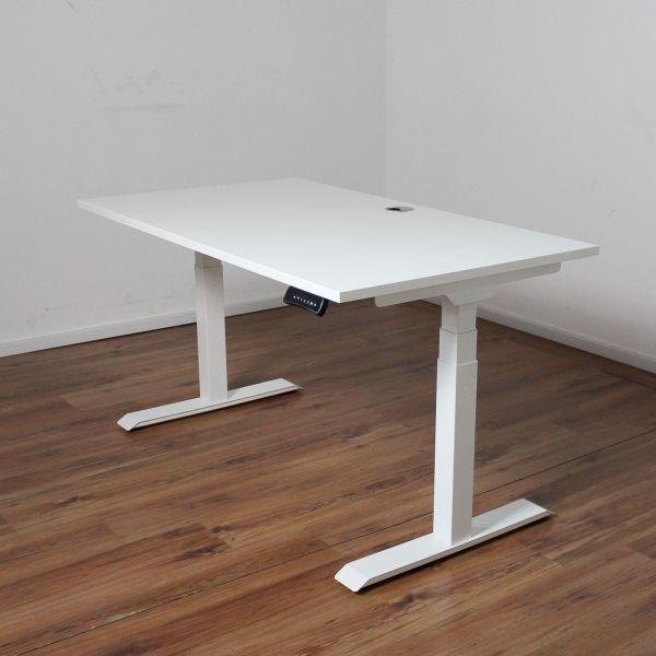 Schreibtisch E-Beam - Platte 140x80cm weiß - elektrisch höhenverstellbar NEUWARE