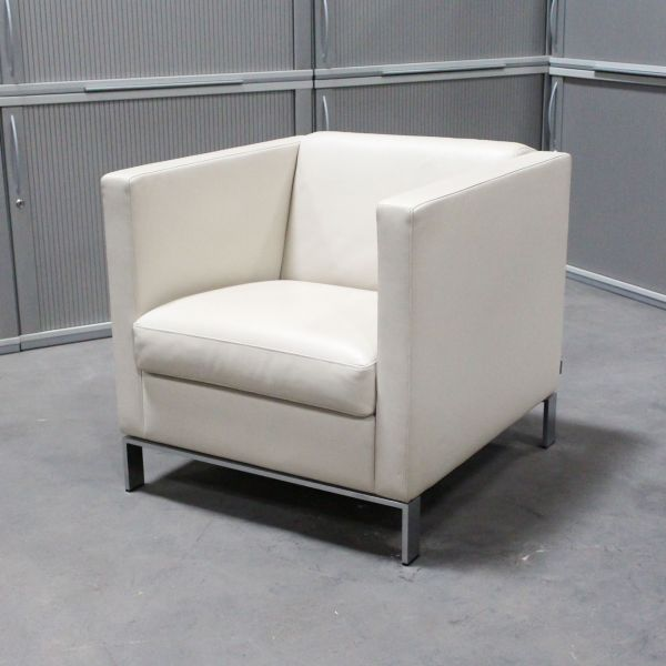Walter Knoll Sessel Foster 500 Leder Creme Weiß