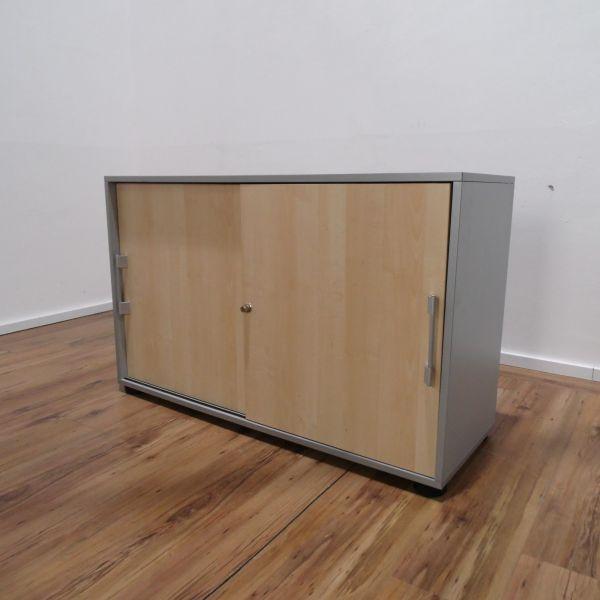 Sideboard 2OH - Schiebetüren ahorn - Breite 120 cm