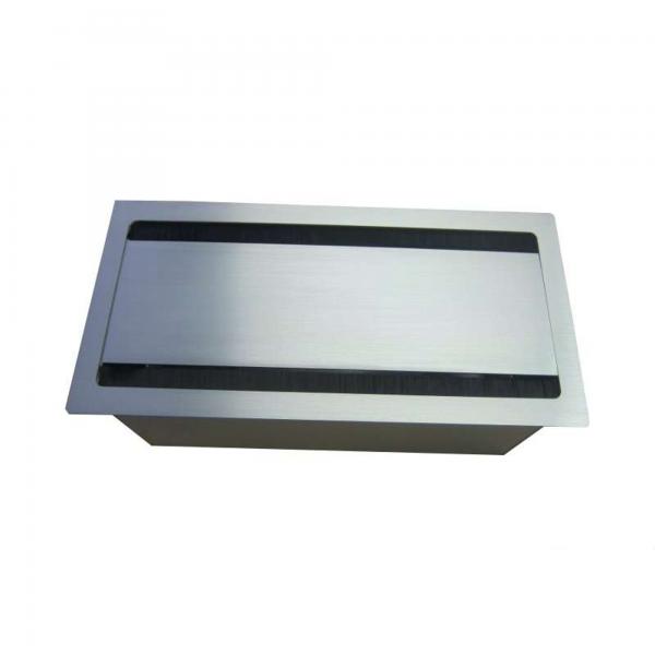 Götessons Bi-Box Kabelanschlussbox für Besprechungstische silber
