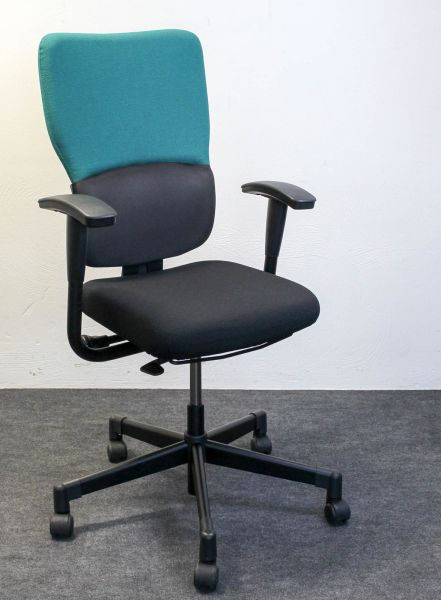 Steelcase Let´s b Bürodrehstuhl Stoff Dunkelgrün Gestell Schwarz
