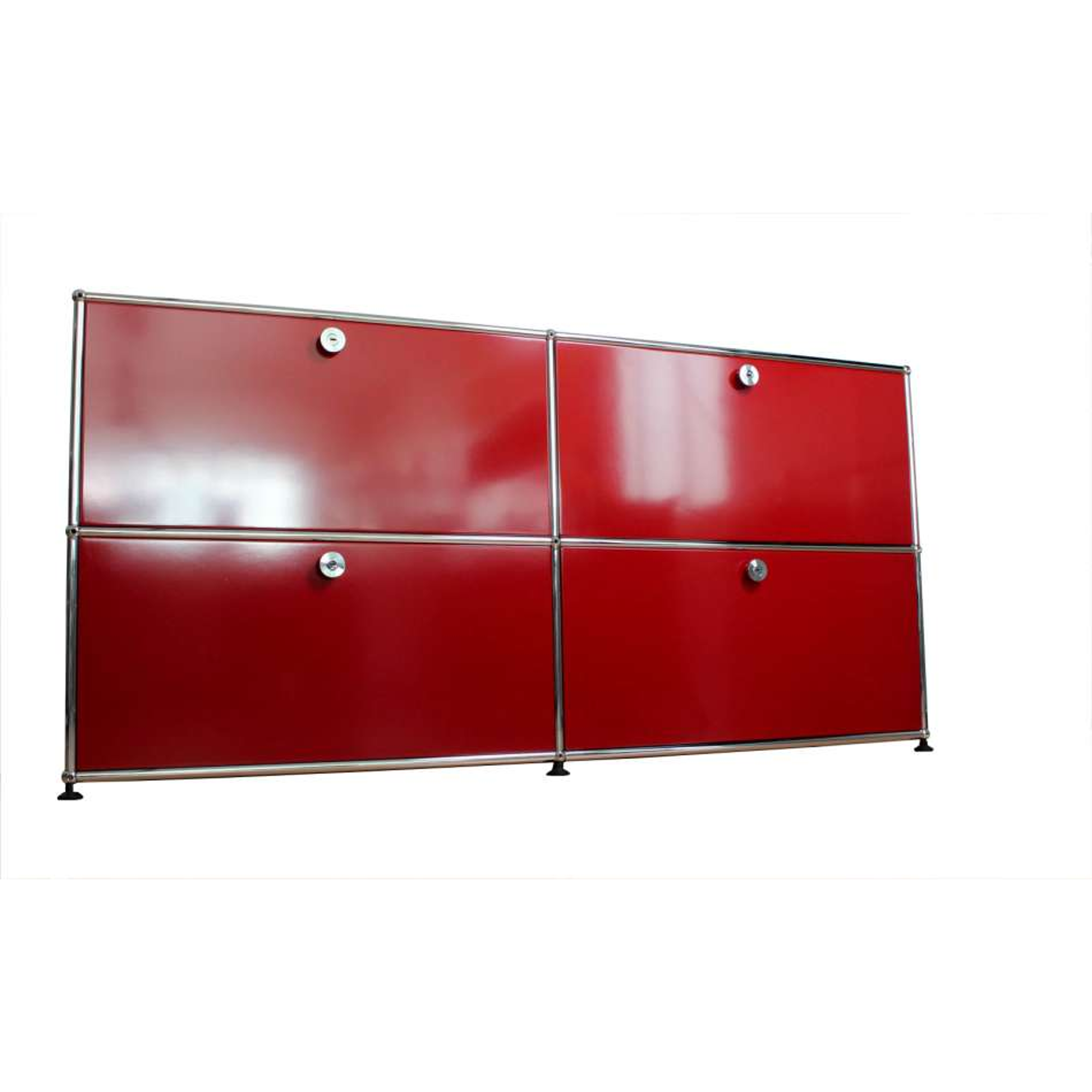 usm haller sideboard 4 klappen rot ebay. Black Bedroom Furniture Sets. Home Design Ideas