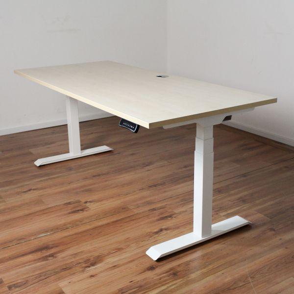 Schreibtisch E-Beam - Platte 180x80cm ahorn - elektrisch höhenverstellbar NEUWARE