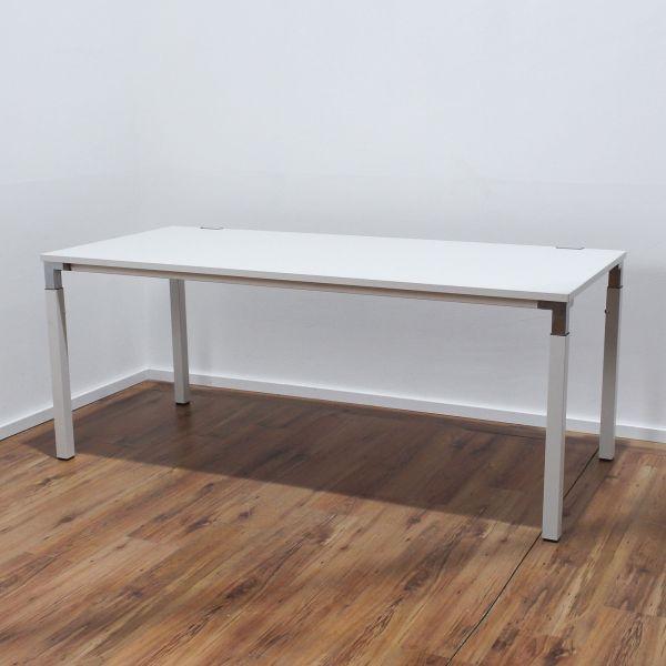 Steelcase Kalidro Schreibtisch - 180 x 80 cm in weiß - Gestell weiß