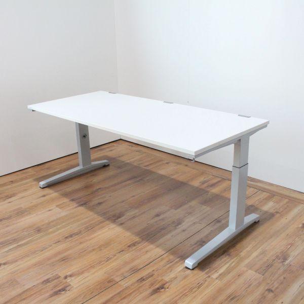 Steelcase Activa Schreibtisch Platte Weiß 180 x 80 cm Gestell Silber