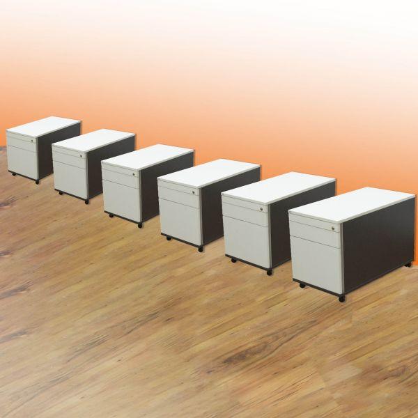 Sedus Rollcontainer 3 Laden weiß - 6er Set %Angebot des Monats%