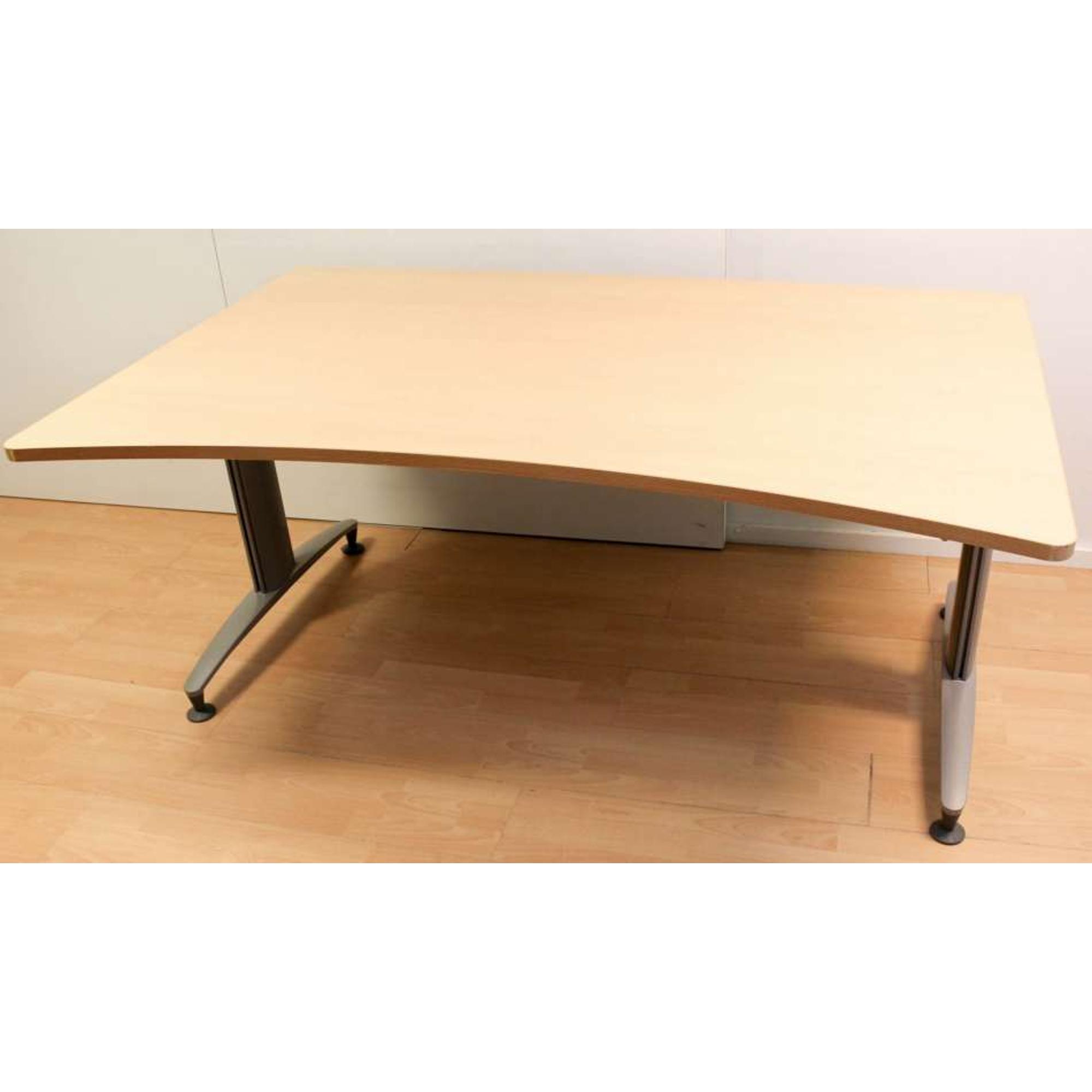 sch rf space desk schreibtisch buche hell 160 x 90 100 cm schreibtisch b rotische ks b rom bel. Black Bedroom Furniture Sets. Home Design Ideas
