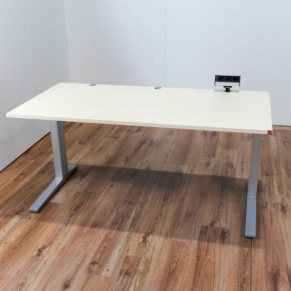 Bene Schreibtisch Ahorn Platte 160 x 80 cm höhenverstellbar