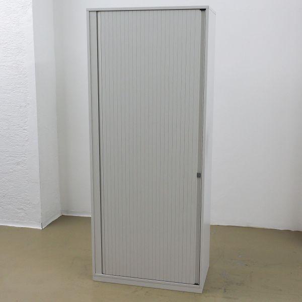 Steelcase Aktenschrank - 5OH - Korpus weiß- Querrolladen weiß - Breite 80 cm
