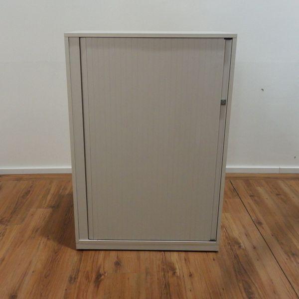 Steelcase Sideboard 3OH Korpus weiß - Querrolladen weiß - 80 cm breit