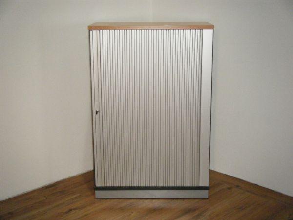 Sideboard 3OH - Korpus in anthrazit - Platte buche
