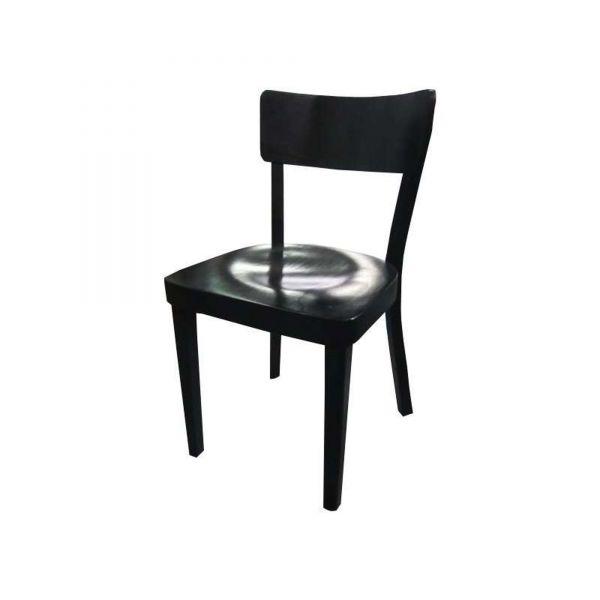 May Besucherstuhl - Holzstuhl in schwarz - Gestell schwarz