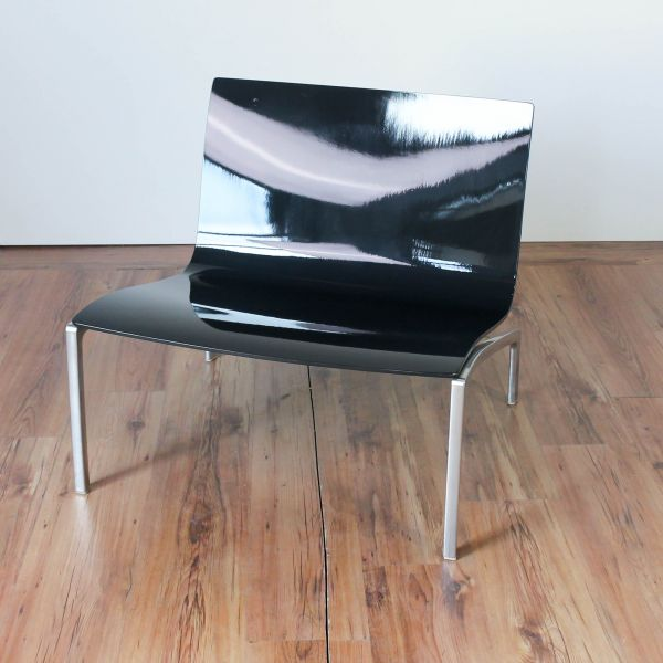 Fritz Hansen Space Lounge Chair Besucherstuhl lackiert Anthrazit